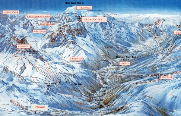 シャモニ地図