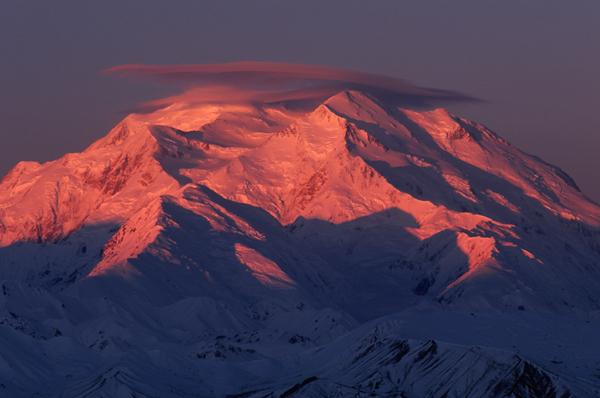 Denali(Mckinley) sun rise pink2